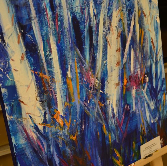 On voit une peinture faite par un membre de la Faculté d'éducation