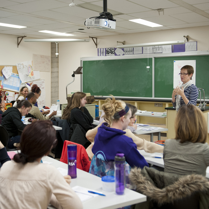 Faculty of Education students in class
