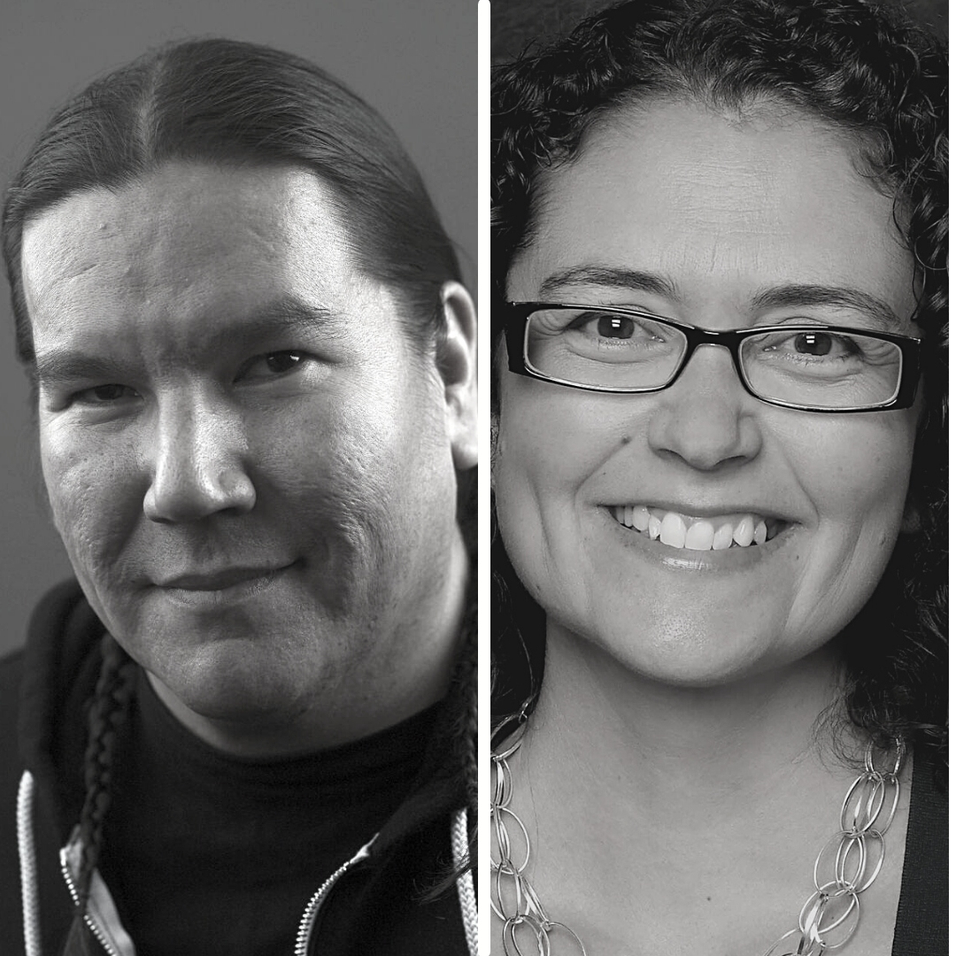 Waubgeshig Rice and Jennifer David