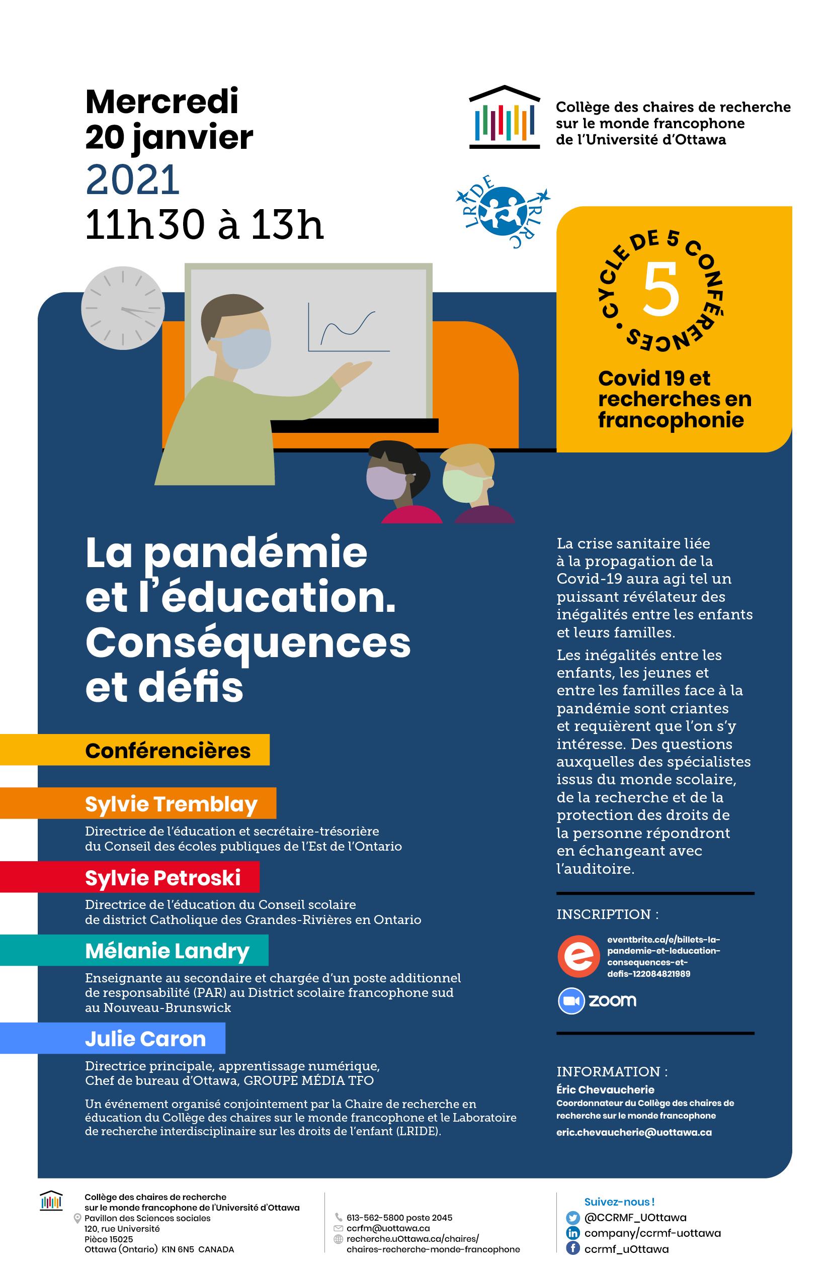 La pandémie et l'éducation. Conséquences et défis