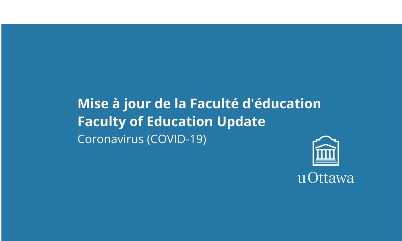 Blue colour block with text, University of Ottawa logo