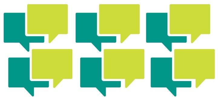 Green conversation squares