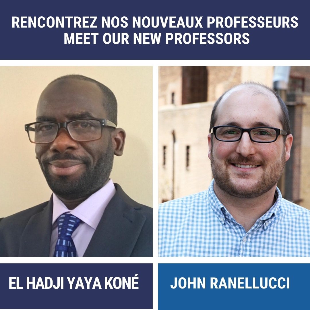 Nouveaux professeurs El Hadji Yaya Koné et John Ranellucci