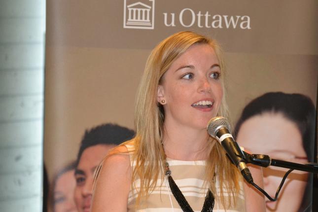 Megan Cotnam-Kappel parlant à uOttawa