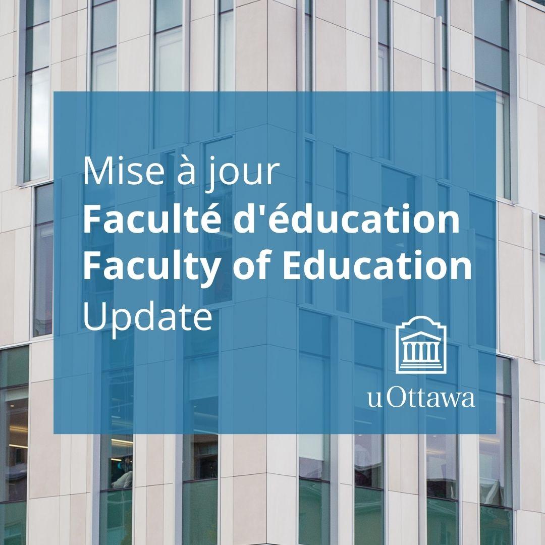 Mise à jour; Faculté d'éducationé édifice CRX