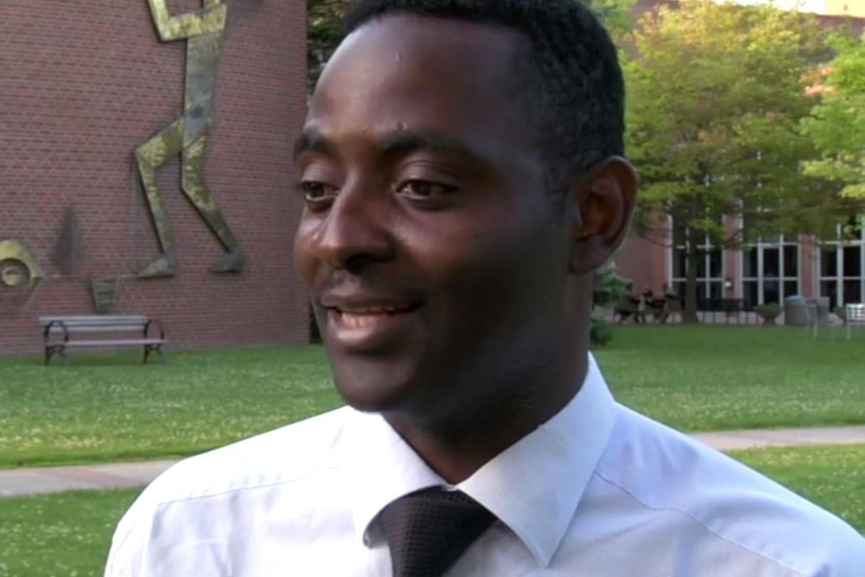 Etudiant d'éducation Aristide Willy Wandji Wandji parle de son stage